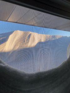 Snow drift above window