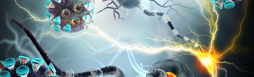 COVID virus attacking nerves